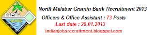 North Malabar Gramin Bank  NMGB Recruitment 2013