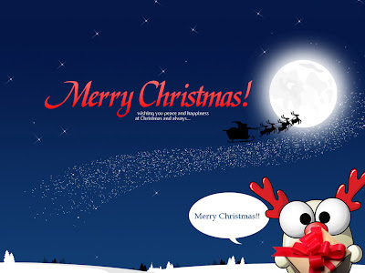 Merry Christmas Peace and Happiness Wallpaper