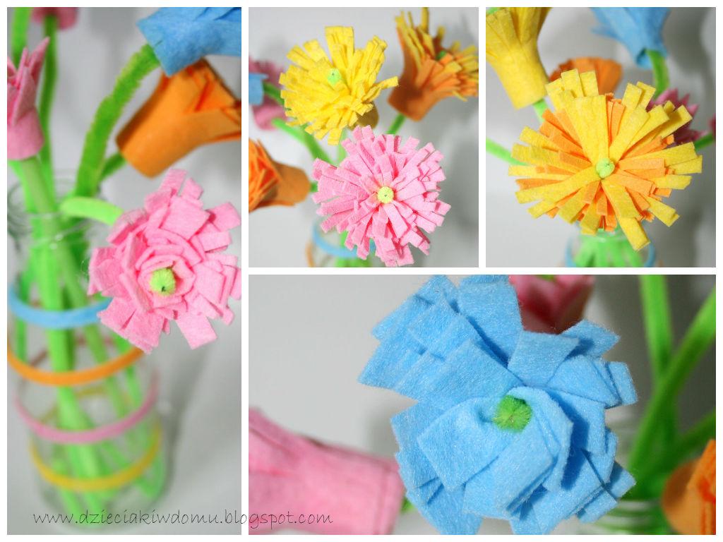 kreatywne kwiatki do zrobienia z dziećmi ze zmywaków kuchennych