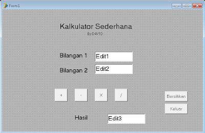 Membuat Kalkulator Sederhana Dengan Delphi7