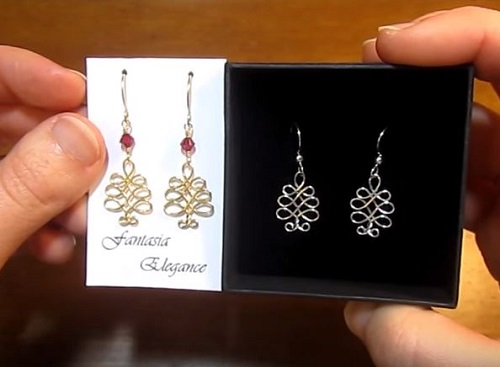 Wire Wrapped Christmas Tree Earrings Tutorial The Beading Gem's  - Make Christmas Tree Earrings