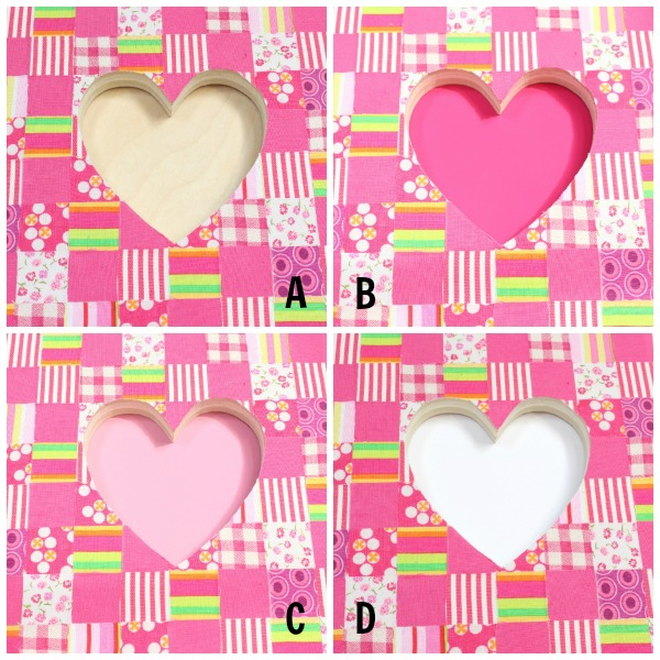 fabric collage heart background color