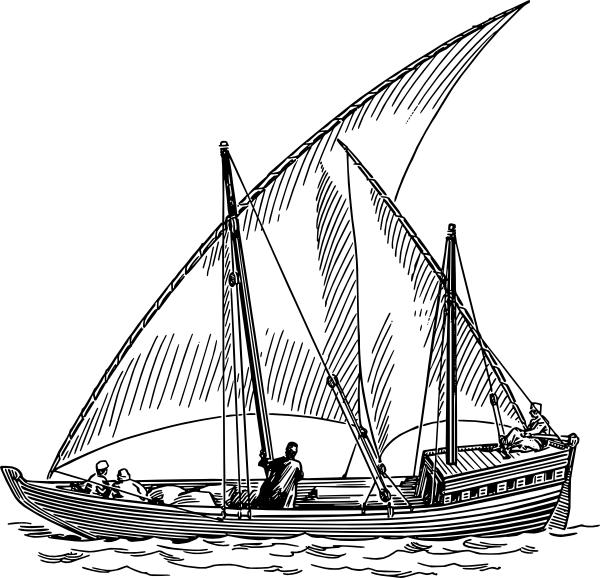 clipart - de un velero tradicional