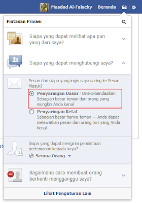 Pengaturan Privasi Facebook 2013