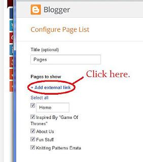 blogger menu for posts