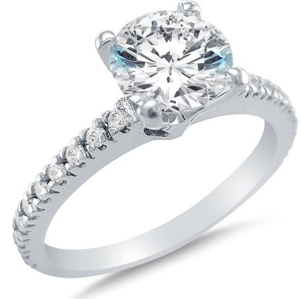 choosing cubic zirconia engagement rings - High Quality Cubic Zirconia Wedding Rings