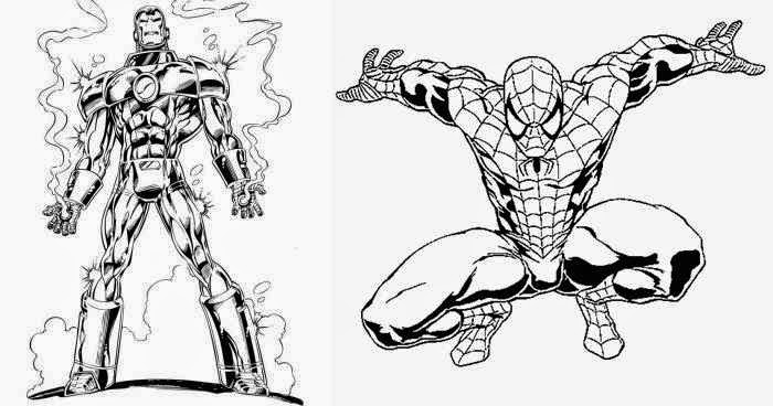 Coloriage spiderman iron man coloriage en ligne - Coloriage ironman ...