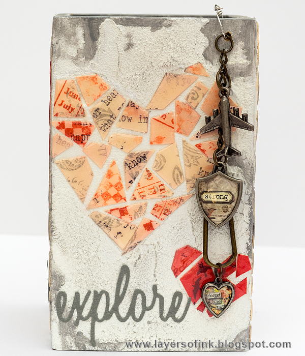 Layers of ink - Mosaic Pen Holder Tutorial by Anna-Karin