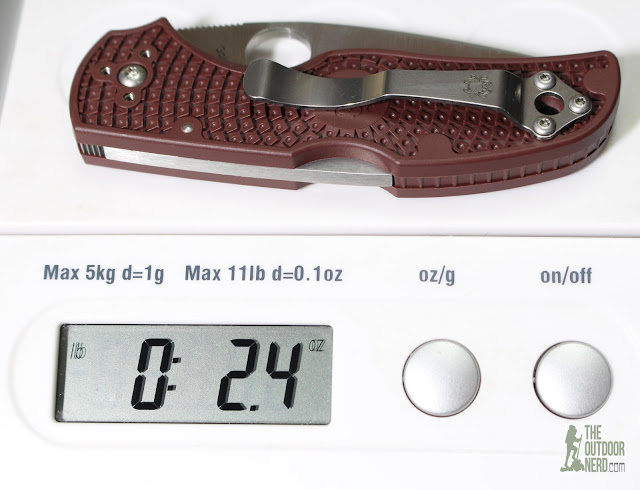 Spyderco 2015 Forum Native - On Scale