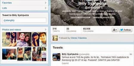 Akun Twitter Billy Syahputra Adik Olga