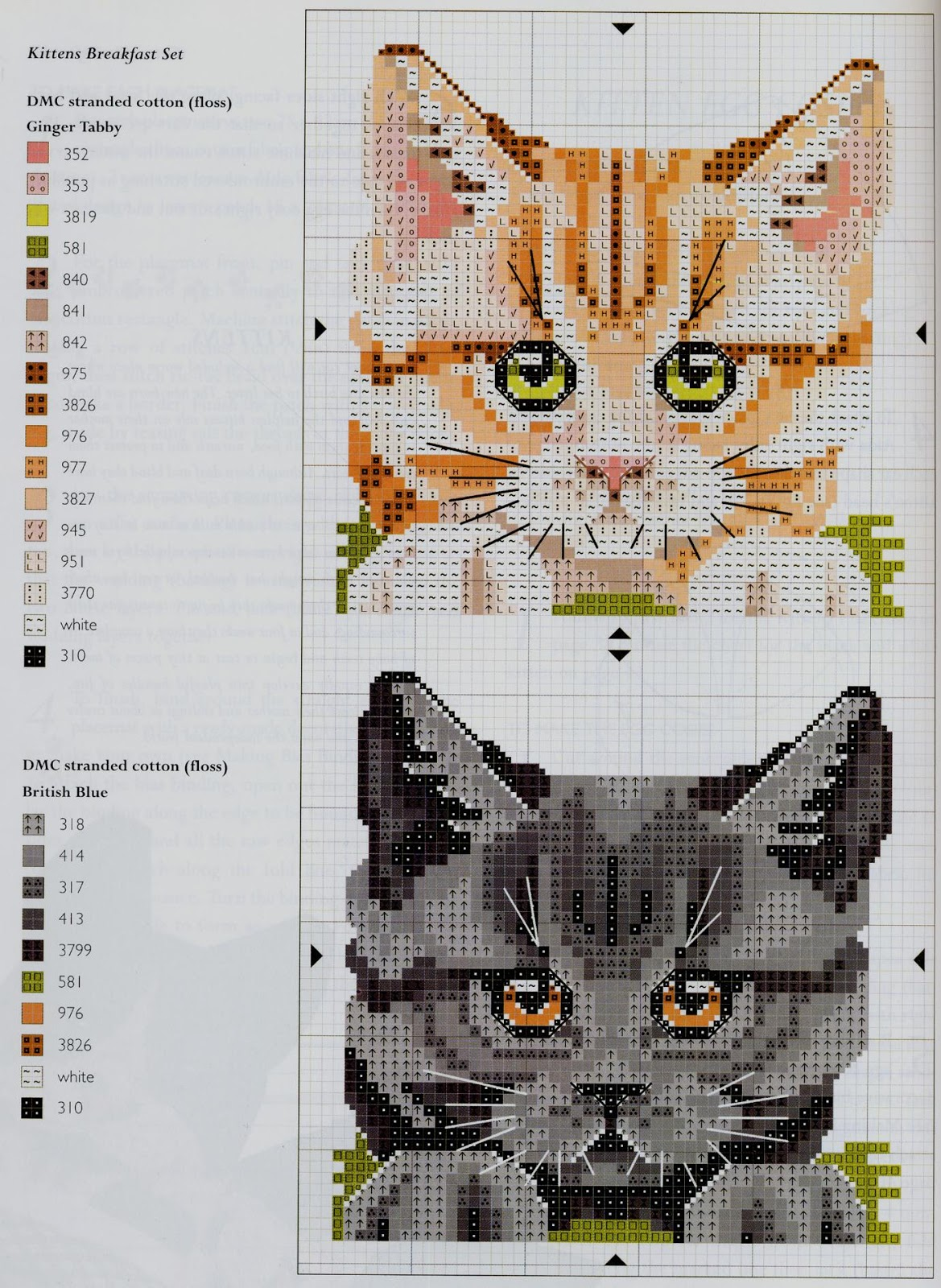 Схемы вышивки кошек 95