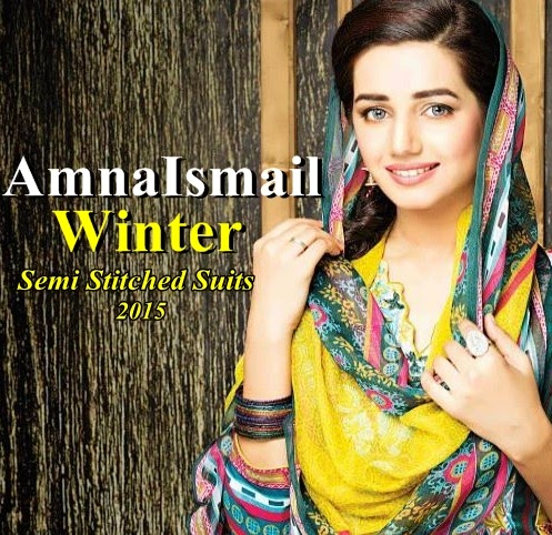 Amna Ismail Winter Semi Stitched Suits 2014-15