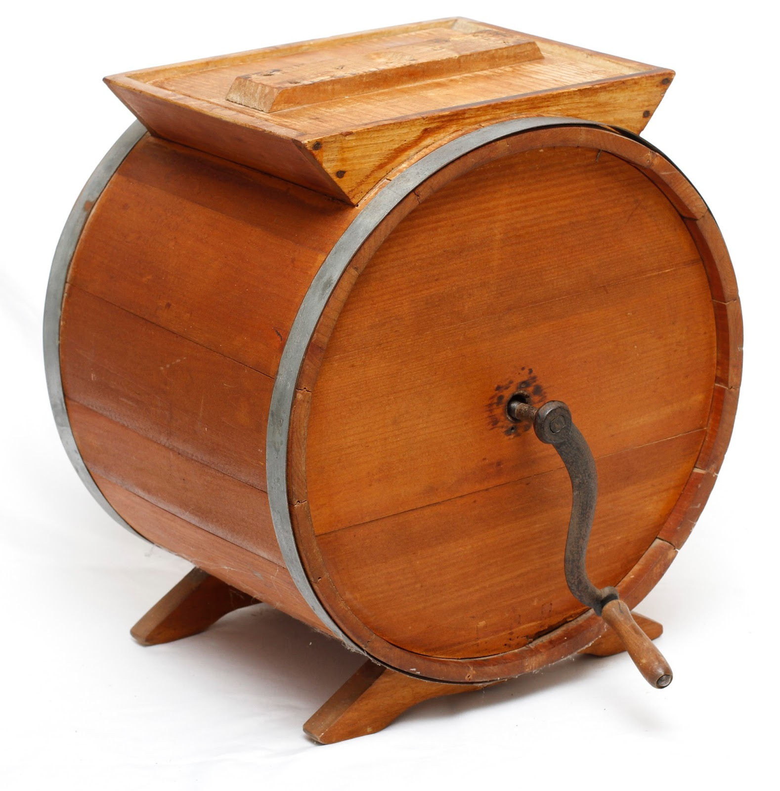 Antique Wooden Butter Churn   Grandmas Attic Auction