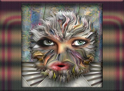Rivismo. Caretas con Pinceladas Experienciales entremezcladas. Máscaras N-Temporales