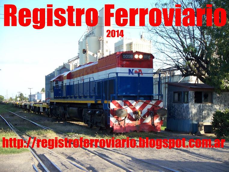 REGISTRO FERROVIARIO.¡¡¡¡PASION X LOS FERROCARRILES!!!!!
