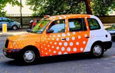 colourful London taxi cab 4