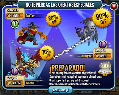 imagen de los paquetes especiales de halloween de monster legends
