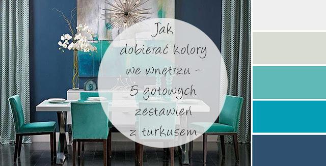 gotowe zestawienia kolorystyczne z turkusem