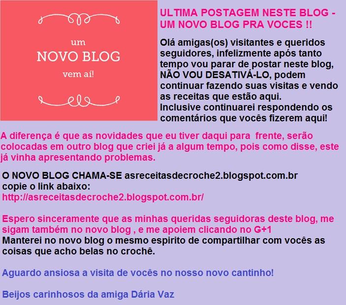 ULTIMA POSTAGEM NESTE BLOG - 5/12/15