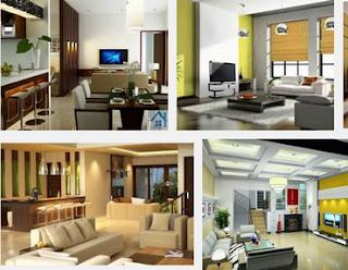 Desain Interior Dekorasi Ruang Tamu Dan kursi