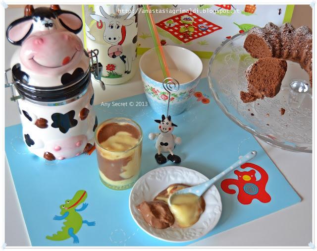 il mio budino con le macchie: vaniglia e cioccolato, alla faccia dei mini muuu della mu-mu yeeee!