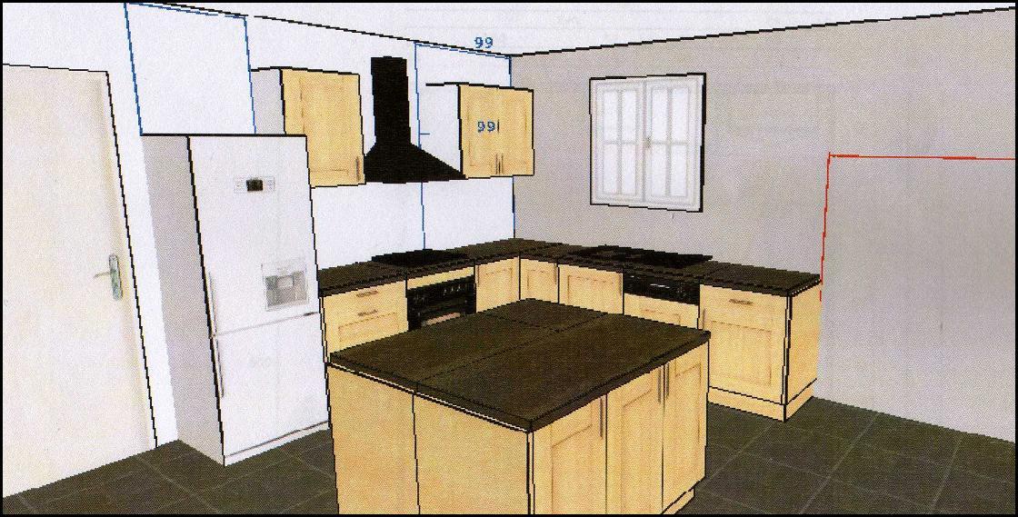 Notre projet maison for Taille plan de travail cuisine