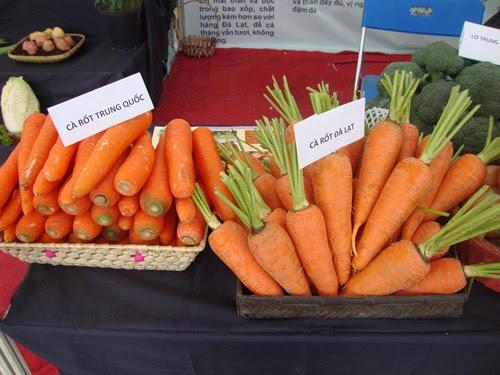 Phân biệt cà rốt Đà lạt