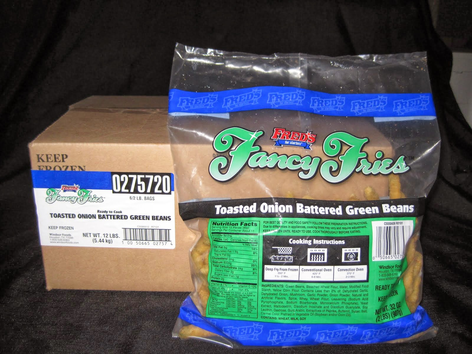 Battered Green Beans 6/2 lb bags - Item # 12277 & 12278 for the split