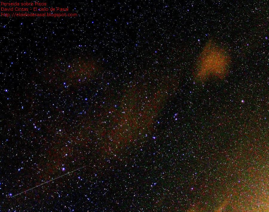 Perseidas estrellas fugaces piscis ballena - El cielo de Rasal