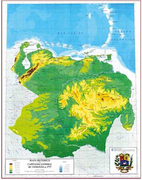 Mapa de la Capitanía General de Venezuela 1777
