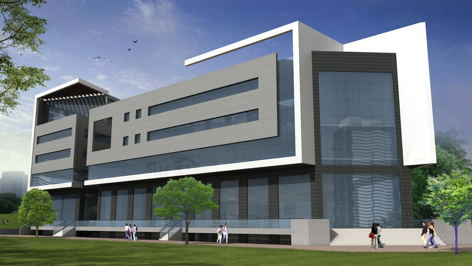 Front Elevation Commercial Complex : Architectural portfolio commercial complex for mr satish