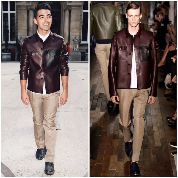 Joe Jonas at Valentino show Paris Fashion Week Menswear Spring Summer 2015