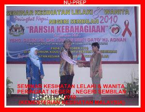 Tongkat Ali Nu-Prep 100 Bersama KKM 'Seminar Kesihatan Peringkat Negeri Sembilan 2010'