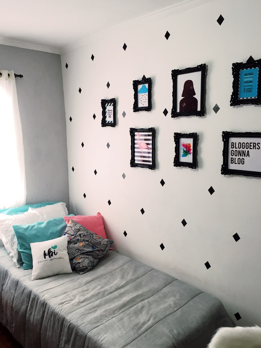 quarto com decora o inspirada no pinterest tumblr h rica gabrielli. Black Bedroom Furniture Sets. Home Design Ideas