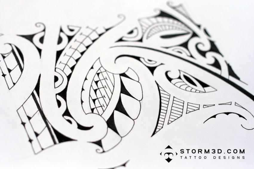 Tatouage Bracelet Polynésien - 9b°) tatouage bracelet polynesien FENUA TATTOO