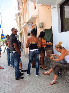 Santiago de Cuba people on street