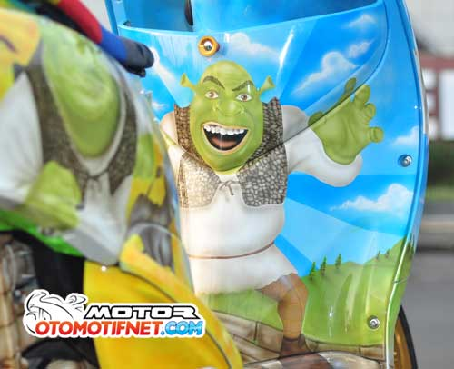 Modifikasi Yamaha Mio Fino Air Brush Tuan Sherk