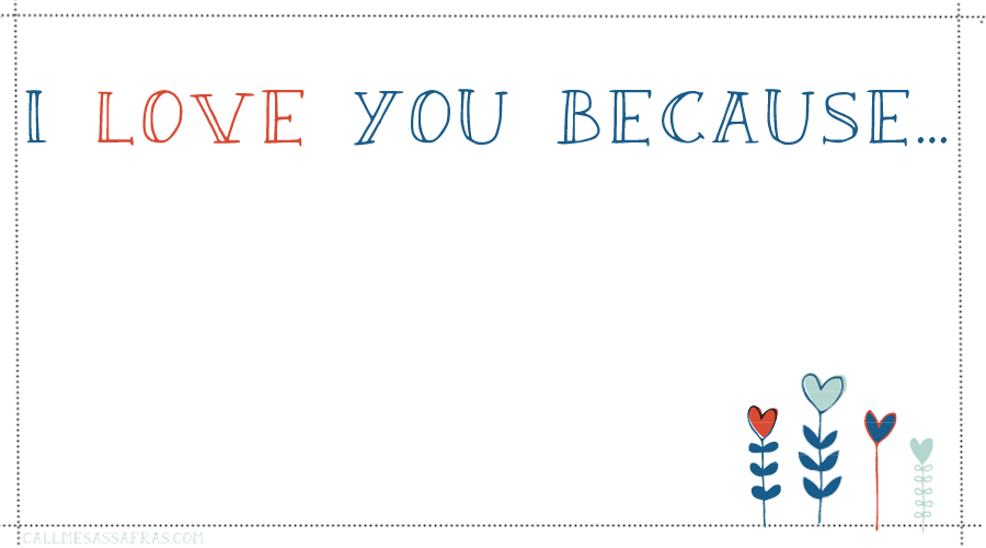 Enterprising image with regard to i love you because printable