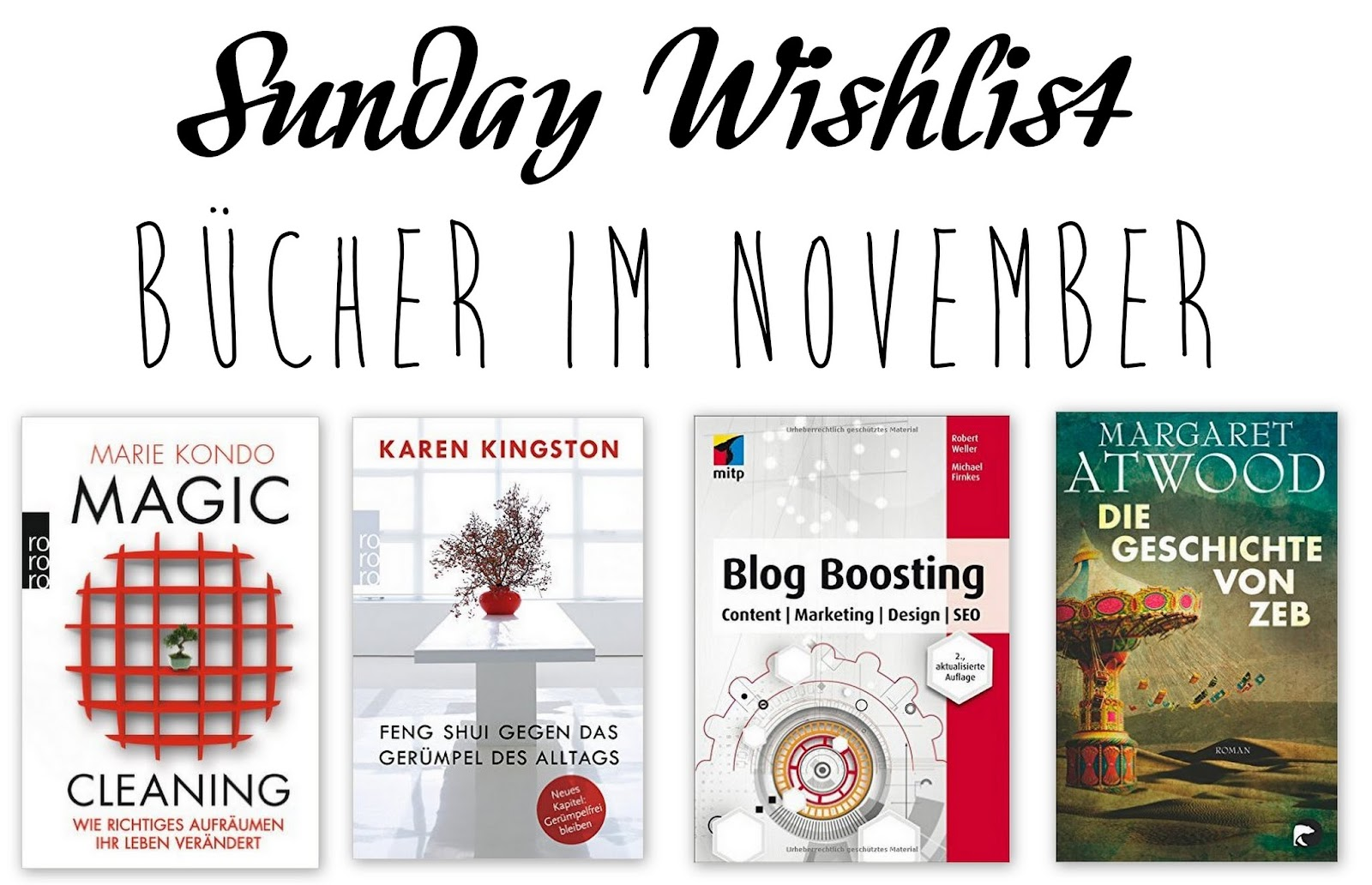 Sunday Wishlist: Bücher im November