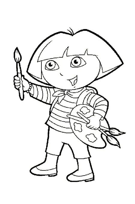 صورة طفل بدور الرسام لتلوين الاطفال