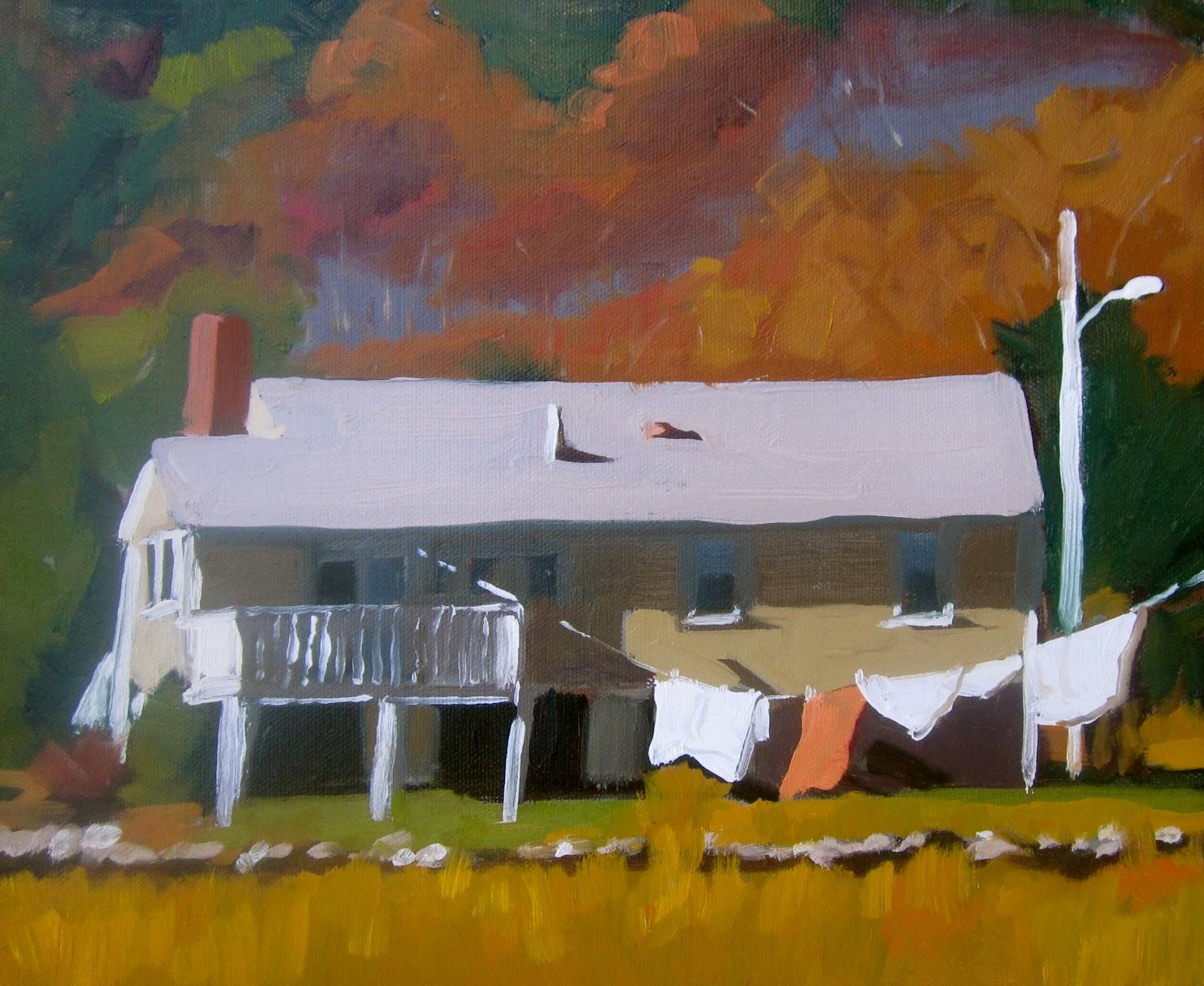 Hopper House Painting