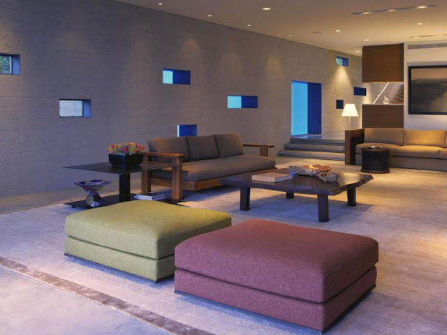 Photo of modern furniture in the living room