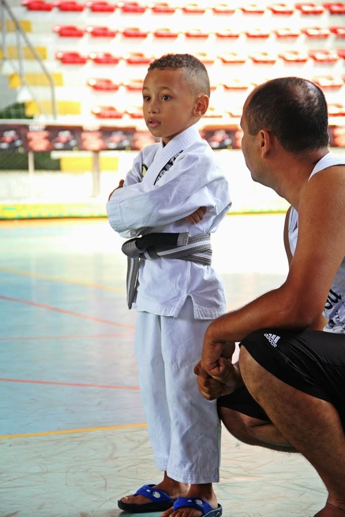 O jovem Marlon Silva, de 5 anos, foi destaque na competição pela pouca idade