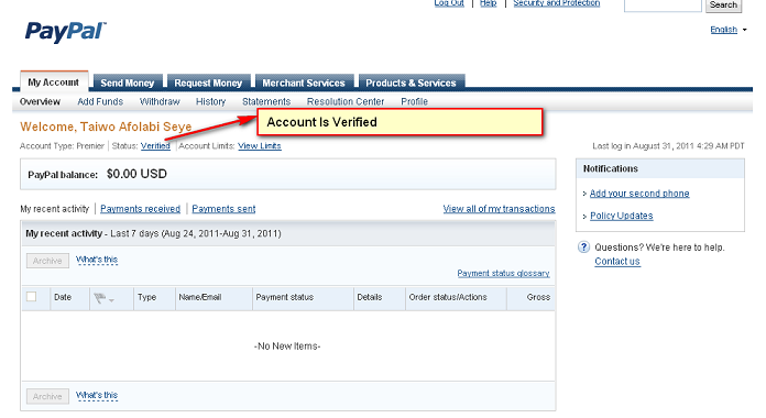 how to create a paypal account in usa