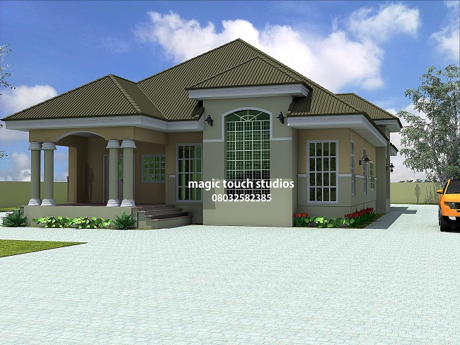 5 bedroom bungalow residential homes and public designs for 5 bedroom house ideas