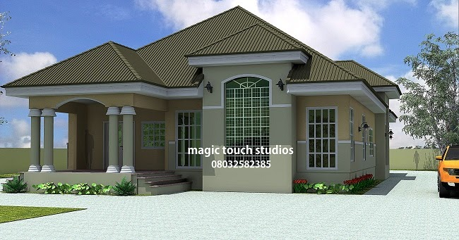 Residential homes and public designs 5 bedroom bungalow for 5 bedroom bungalow designs