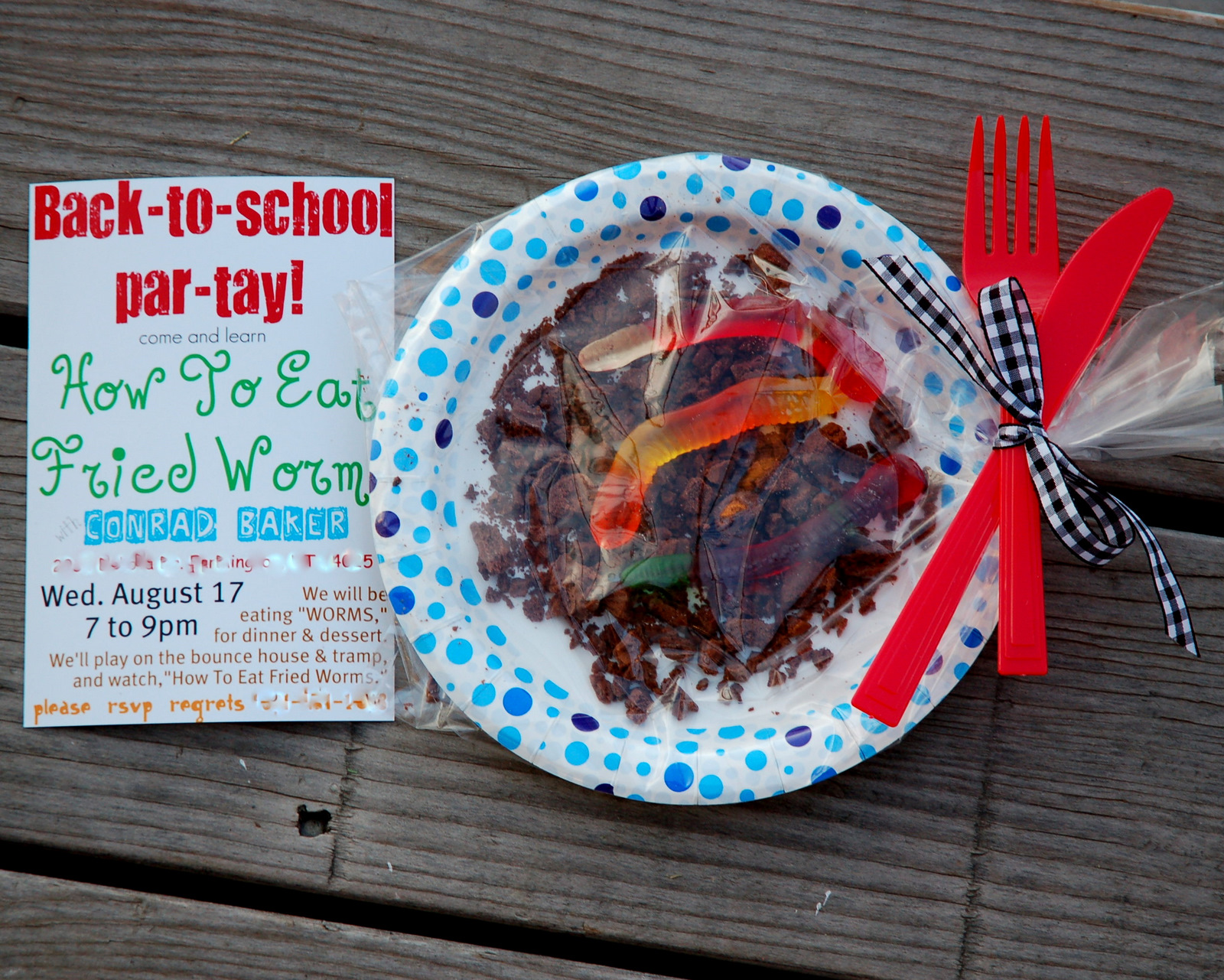 How To Eat Fried Worms {back To School Party}