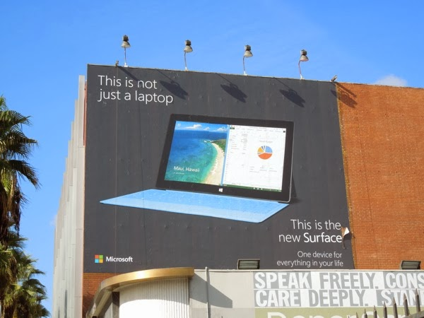 not just a laptop Surface 2 billboard