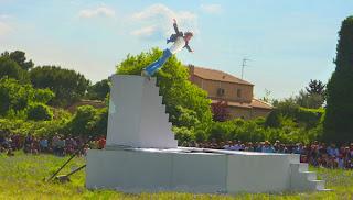 Zat Montpellier : Yoann Bourgeois sur le trampoline