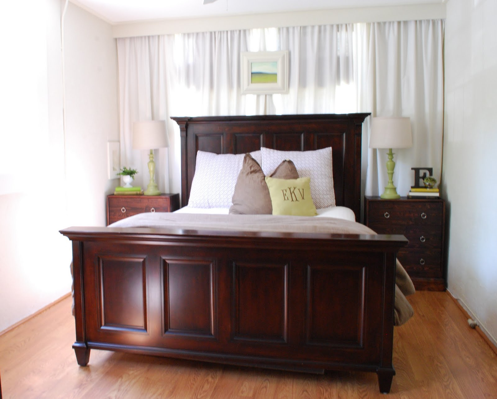 This & That: Master Bedroom Wall O' Curtains